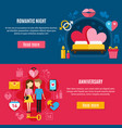 two valentines day banner set vector image vector image