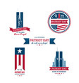 usa patriot day collection design templates set vector image vector image