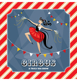 Vintage card with acrobat girl vector image vector image