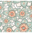Vintage green flower seamless texture vector image
