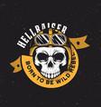 vintage motorcycle graphics biker t-shirt vector image vector image