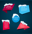 winter style text templates origami for banner vector image vector image