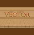 wood table top on oak background vector image vector image