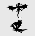 Dragon Silhouettes vector image