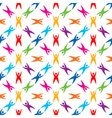 Seamless Pattern People Icon vector image