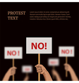 Poster on the theme protest disagreement vector image