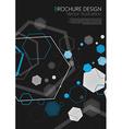 Abstract geometric black hexagon background vector image