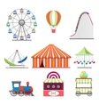 Park icons set in flat style vector image