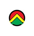 abstract arrow business logo vector image vector image