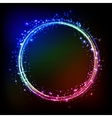 Abstract dark background with color light frame vector image vector image