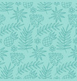 abstract doodle seamless pattern with tropical vector image