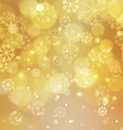 Abstract Gold Christmas Background with Bokeh vector image