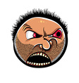 Angry cartoon face with stubble vector image vector image