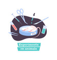 animal testing composition vector image