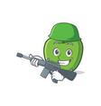 army green apple character cartoon