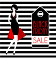black friday fashion girl vector image