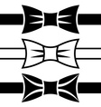 bow tie black symbols vector image vector image