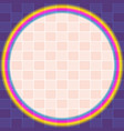 bright colored circles and stripes background vector image