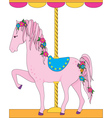 carousel horse vector image vector image