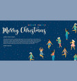 christmas and happy new year with vector image vector image