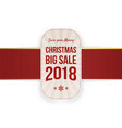 christmas big sale label isolated on white vector image