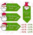 Christmas sale and Santa Claus vector image vector image