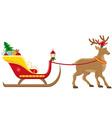 christmas santa sleigh 04 vector image vector image