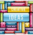Creative ideas concept pattern vector image vector image