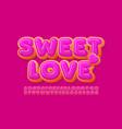 cute card sweet love donut alphabet set vector image