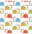 cute elephants in love pattern animals print vector image