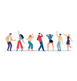 dancing people happy joy persons jumping have fun vector image
