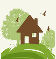 eco-friendly house vector image vector image