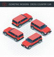ed croos country car vector image vector image