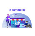 flat design banner of e-commerce for website and vector image vector image