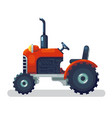 flat red tractor in a flat style isolated vector image