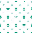 footprint icons pattern seamless white background vector image vector image