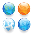 Four globes vector | Price: 1 Credit (USD $1)