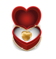 Gold Heart Necklet vector image