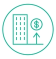 Growth of real estate market line icon vector image