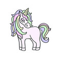 hand drawing unicorn icon isolated on the white vector image vector image