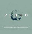 hand drawn planet pluto vector image vector image