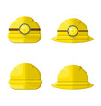 hard hat flat graphic icon set vector image vector image