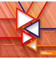 Infographics geometrical abstract background vector image vector image