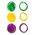 Mardi Gras acrylic circles vector image vector image