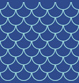 marine fish scales seamless pattern vector image
