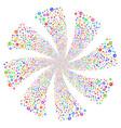 medical pharmacy fireworks swirl flower vector image vector image