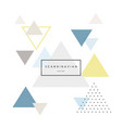 modern abstract triangle background vector image