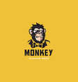 monkey mascot logo vector image vector image