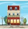 old european shop boutique museum cafe vector image vector image