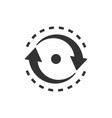 oval with arrows icon in flat style consistency vector image